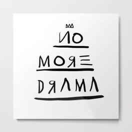 Basquiat No More Drama Metal Print