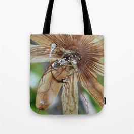 Vintage Vanilla Passion Flower Detail Tote Bag