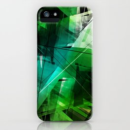 Jungle - Geometric Abstract Art iPhone Case