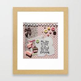 Pink chocolate Framed Art Print