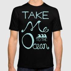 Take me to the Ocean MEDIUM Mens Fitted Tee Black