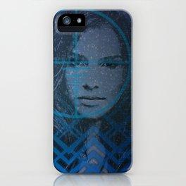 Cyber Snow Queen 1 iPhone Case