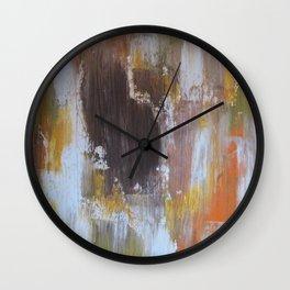 Rustic Leaves Wall Clock