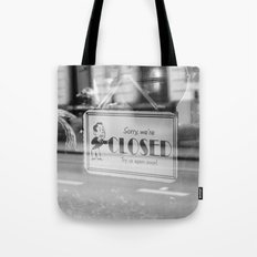 Closed - Belgium Cafe Photography Tote Bag