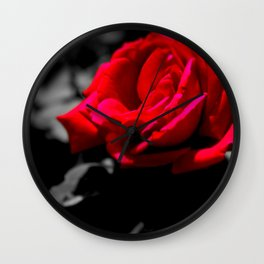 The Beauty of a Rose Wall Clock