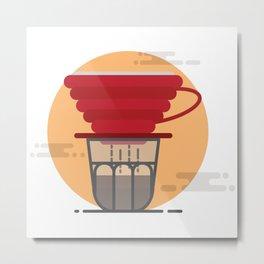 Pour Over Coffee Metal Print