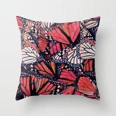 Monarch Butterflies II Throw Pillow