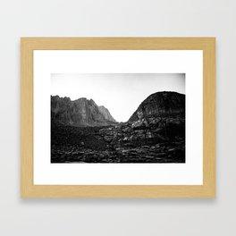 Granite Saddle Framed Art Print