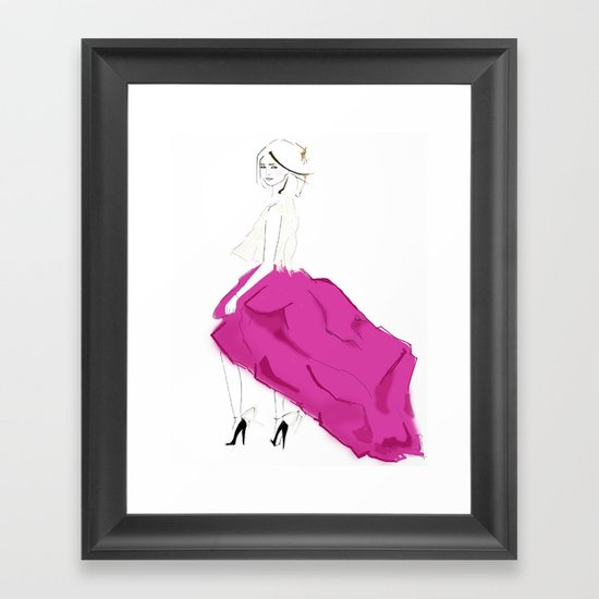 Pink Skirts Framed Art Print