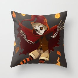 Spooktember's Ghost boy Throw Pillow