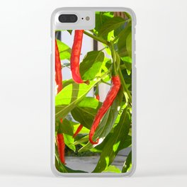 Hot peppers Clear iPhone Case