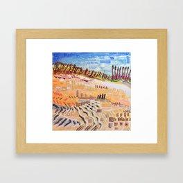 Beach Bums Welcome Framed Art Print