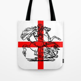 George and the Dragon Patriotic Flag Tote Bag