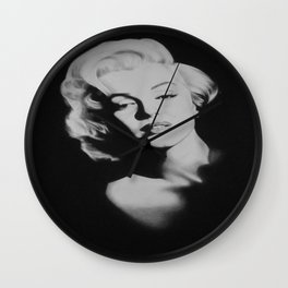 Maryiln Black I Portrait  Wall Clock