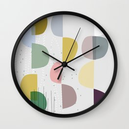 Mid century temporary art VIII Wall Clock