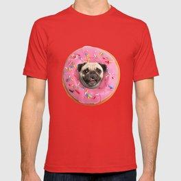 Pug Strawberry Donut T-shirt