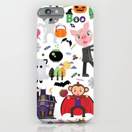 Cute Halloween Monster Trick Or Treaters iPhone Case