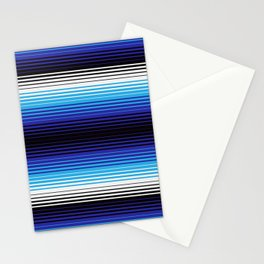 Deconstructed Serape in Blue Stationery Cards