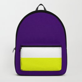 Team Colors 7..purple,yellow, white Backpack