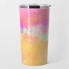 Modern Pastel Rainbow Cascade  Travel Mug