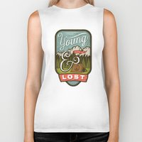 camp Biker Tanks featuring Camp by Seaside Spirit