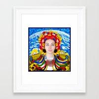 ukraine Framed Art Prints featuring Ukraine by Exclusivity