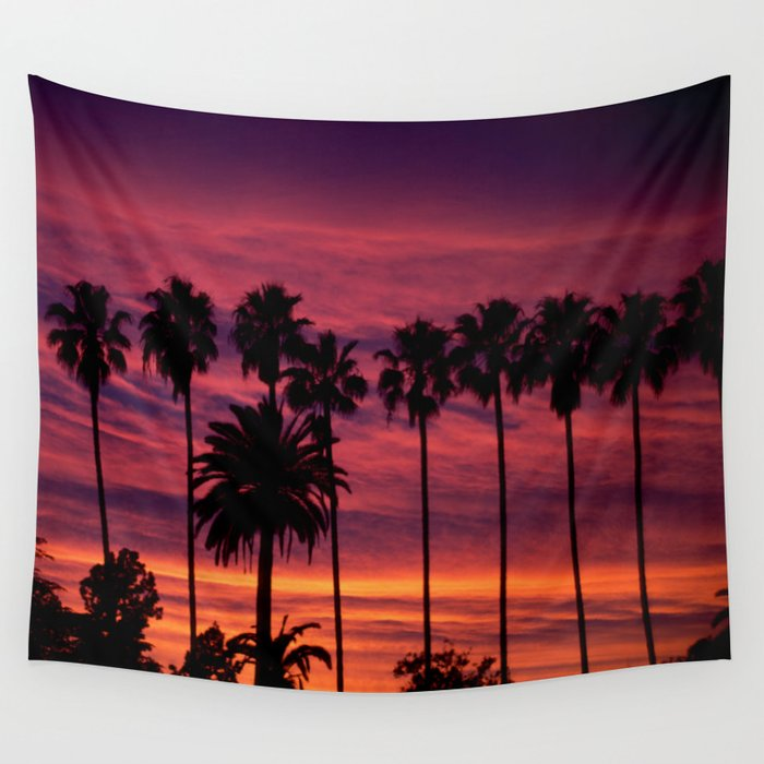 Sunset over Hollywood Wall Tapestry