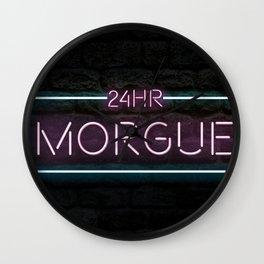 24hr Morgue Wall Clock