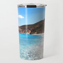 258. Paradise Beach, Greece Travel Mug