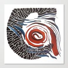 Horn-swirl Canvas Print