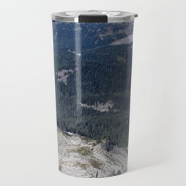 Clear Blue Skies and a Mountain View Travel Mug