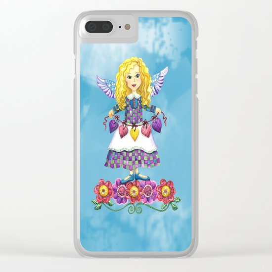 Angel Love (Turquoise) Clear iPhone Case