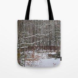Bridge in winter Tote Bag