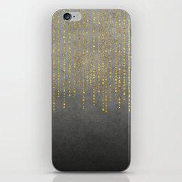 Dark Glamour golden faux glitter iPhone Skin