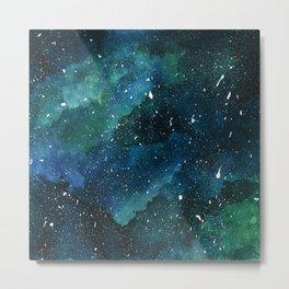 Emerald Galaxy Metal Print