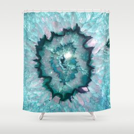 Teal Agate Shower Curtain
