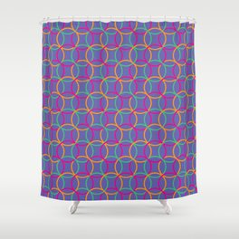 Colorful rings Shower Curtain