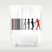 evolution Shower Curtains featuring Evolution by Artbox designs