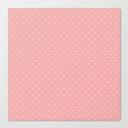 Two Tone Bright Blush Pink Mini Love Hearts Canvas Print