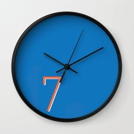 The Lucky Number Seven Wall Clock