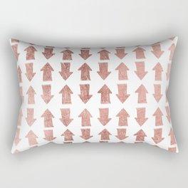 Modern faux rose gold minimal arrows pattern Rectangular Pillow