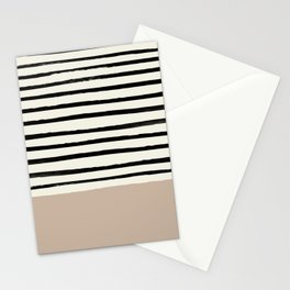 Latte & Stripes Stationery Cards