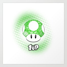 1-UP from Mario Art Print