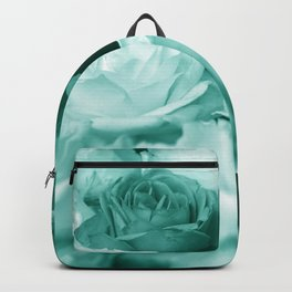 Teal Roses Backpack