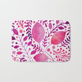 Pink and purple leaves Bath Mat
