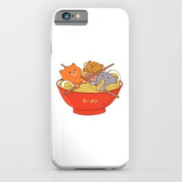 Ramen and cats iPhone Case