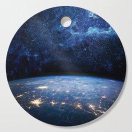 Earth and Galaxy Cutting Board