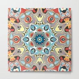 Textural Kaleidoscope Abstract Metal Print