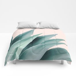 Agave flare II - peach Comforters