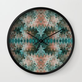 South Western Abstract Mirrored Wavy Pattern Wall Clock